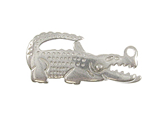 "Sterling Silver: 21mm ""Gator"" Clasp"