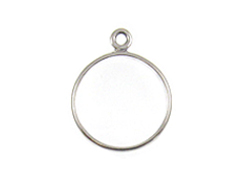 Sterling Silver Ring Blank with Loop - Size 9