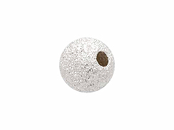 Sterling Silver  5mm Round Stardust Bead
