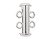 Strand Slider Clasp - Silver Plated