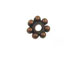 Copper Plated Brass Daisy Bead