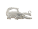 Sterling Silver Gator Clasp