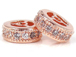10mm Micro Pave Set Rose Gold Finish CZ Rondelles