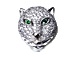 CZ Pave Beads 14x13.5mm Panther Beads, Rhodium Silver Finish