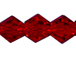 Dark Red 3mm Bicone Bead - Thunder Polish Glass Crystal