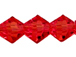 Red 3mm Bicone Bead - Thunder Polish Glass Crystal