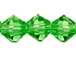 Irish Green  3mm Bicone Bead - Thunder Polish Glass Crystal