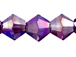 Amethyst AB 4mm Bicone Bead - Thunder Polish Glass Crystal