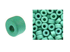 Mint - 6x4mm Greek Ceramic Beads