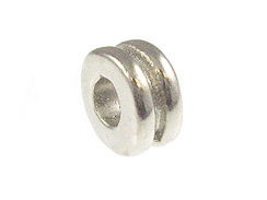 1000 - 3x6mm Double Washer Bead  Nickel Plated