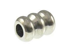 1000 - 8x6mm Triple Washer Bead  Nickel Plated