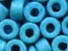 Turquoise Blue- 6x4mm Greek Ceramic Beads
