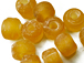 6mm Topaz/Amber (Translucent) Matt/Frosted Crow  Beads