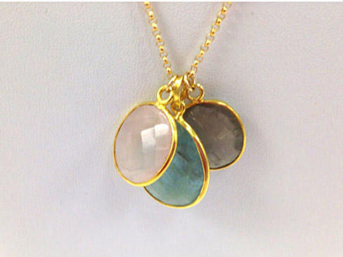 Sheer Delight 3 Gemstone Necklace