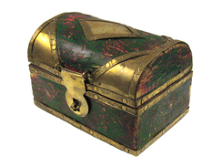 "3""x2""x2"" Wooden Treasure Chest"