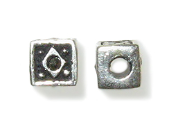 Sterling Silver Marcasite Bead-6x6.75mm (2.75mm Hole)