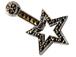 "Sterling Silver Marcasite ""Star Pendant"""