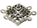Sterling Silver Marcasite 3-strand Spacer