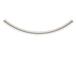 Sterling Silver2x40mm Curved Tube or Noodle Bead