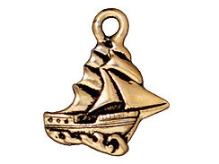 CHARM-Clipper Ship (Antique Gold Plated)