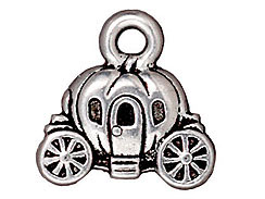 10 - TierraCast Pewter CHARM Carriage Antique Silver Plated