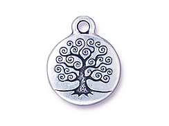 CHARM-Tree Of Life, 19 x 13mm (Antique Silver Plated)