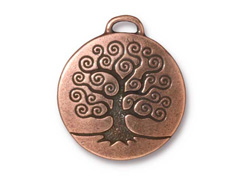 Tierracast Pewter Pendant Tree of Life Copper Plated