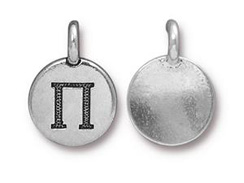 TierraCast Pewter Alphabet Charm Antique Silver Plated -  PI