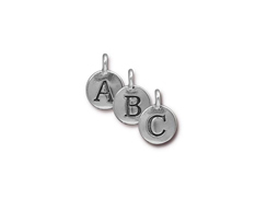 TierraCast Pewter Alphabet Charms Antique Silver Plated -  Starter Set of 260 Charms