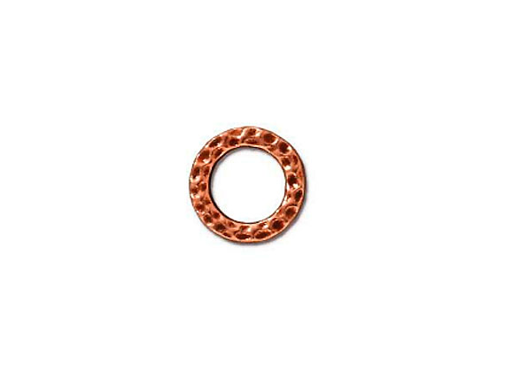 10 - TierraCast Pewter LINK Sm Hammered Ring, Antique Copper Plated