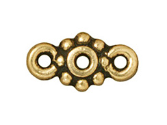 LINK - 6mm Heishi (Antiqued Gold Plated)