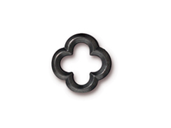 10 - TierraCast Pewter LINK Medium Quatrefoil, Black Finish