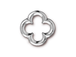 10 - TierraCast Pewter LINK Large Quatrefoil,, Bright Rhodium Plated