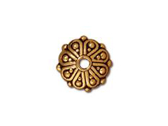 20 - TierraCast Pewter BEAD Oasis , Antique Gold Plated