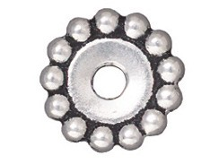 20 - TierraCast Pewter BEAD Daisy, Antique Silver Plated