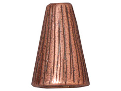 10 - TierraCast Pewter CONE Tall Radiant Antique Copper Plated