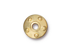 10 - TierraCast Pewter Rivet Bead Cap Bright Gold Plated