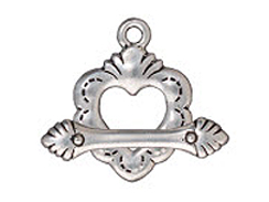 CLASP-Sacred Heart Toggle (Antique Silver Plated)