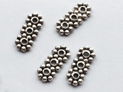 3 Hole Daisy Pewter Spacer Bead
