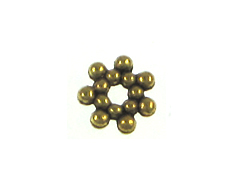 Pewter Daisy Bead - Antique Gold Plated