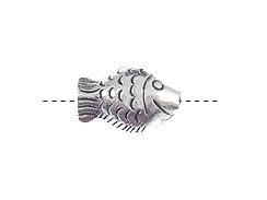 21mm Pewter Fish Bead