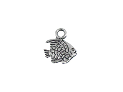 10.5mm Fish Pewter Charm