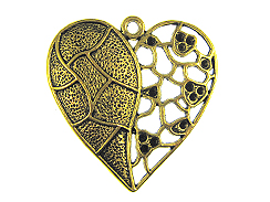 47mm Heart Pewter Pendant