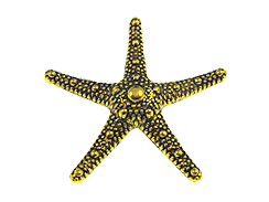 Gold Plated Starfish Pewter Pendant