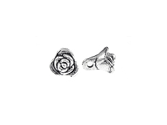 Rose Bud Pewter Pendant