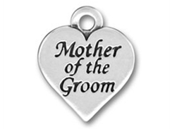 Pewter Heart with Mother of the Groom Charm