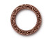 10 - TierraCast Pewter Spiral Ring Links Antique Copper Plated 3/4