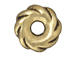 20 - TierraCast Pewter BEAD Twisted Spacer Wide, Antique Gold Plated
