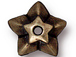 20 - TierraCast Pewter BEAD CAP Star Oxidized Brass
