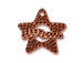 5 - TierraCast Pewter CLASP Hammered Star Toggle Set, Antique Copper Plated